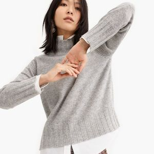 NWT J.Crew Relaxed Mockneck Cashmere Sweater